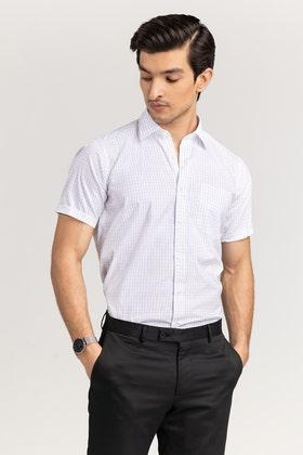 Navy Checkered Formal Shirt CVC-YD-498 HS