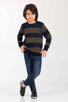 Navy Fashion Sweater FS-KIDS-SWT-FD-34-01