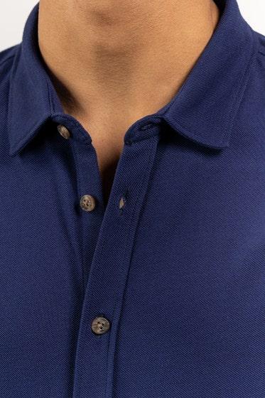 Navy Knitted Casual Shirt HS-CS-KNIT-D14