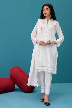 Lawn Dyed Embroidered Shirt with Lawn Dyed Embroidered Dupatta WGK-LWS-DE-403