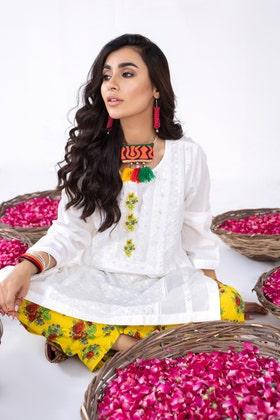 Cambric Embroidered Shirt with Digital Printed Shalwar WGK-LWS-DE-150