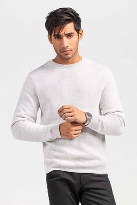 Oatmeal Fashion Sweatshirt JKT-MSS-D29-01