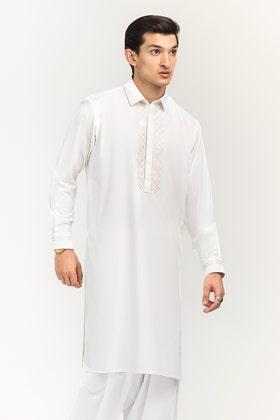 Off White Semi Fashion Suit SKE-191