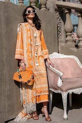 3PC Unstitched Luxury Embroidered Chiffon Suit SP-55