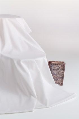 Off White Unstitched Fabric  NAYAB GF-04