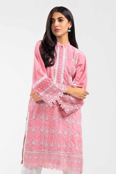 Cambric Dyed Embroidered Shirt WGK-CMS-DE-217