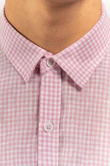 Pink-White Casual Shirt CM-YD-2872 CS HS
