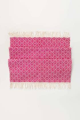 Pink Greek Yarn Dyed Rug