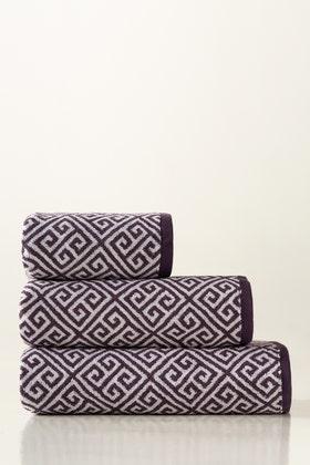 Plum Jacquard Yarn Dyed Towel