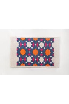 Polygons Screen Printed Rug