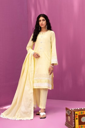 Lawn Dyed Embroidered Shirt with Lawn Dyed Embroidered Dupatta WGK-LWS-DE-405