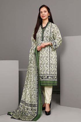 3PC Unstitched Printed Suit With Printed Lawn Dupatta CL-1101 A