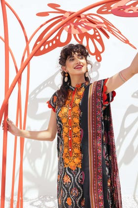 2 Piece Unstitched Lawn Printed Embroidered Suit TL-344