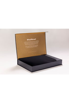 Black Unstitched Fabric With Gift Box X-Series - Exclusive Collection Opal