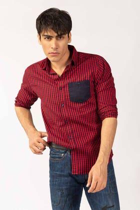 Red Casual Shirt CM-YD-2854 CS