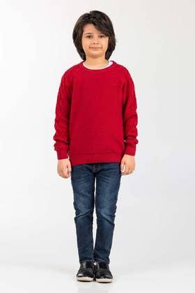 Red Fashion Sweater FS-KIDS-SWT-FD-30-01