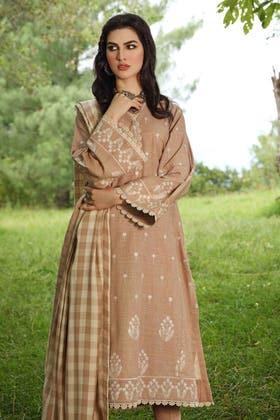 3PC Unstitched Pashmina Shawl Suit AP-12033
