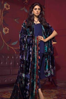 3PC Unstitched Velvet Suit With Velvet Dupatta BVL-12004 A
