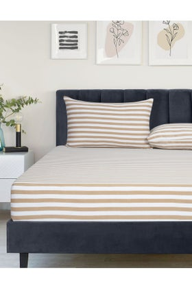 RUGBY STRIPE Jersey Fitted Sheet Set