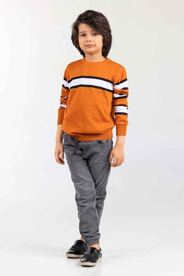 Rust Fashion Sweater FS-KIDS-SWT-FD-40-01