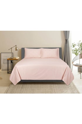 Scallop T-400 Embroidered Bed Sheet Set