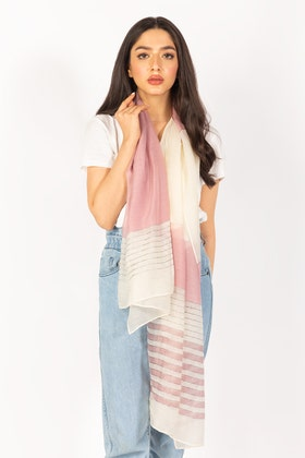 Pink & White Scarf SCF-S21-03 B