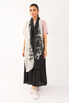 Black & White Scarf SCF-S21-04 B