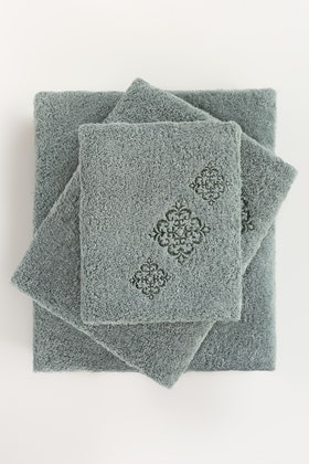 SEA Combed 3Pc Embroidered Towel Set