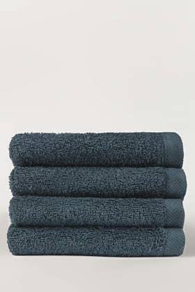 Sea Port Combed 4 Pcs Face Towel Set