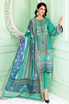 3PC Unstitched Printed Suit With Printed Lawn Dupatta CL-1017 A