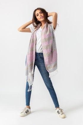 Grey & Pink SHAWL-20-04 B