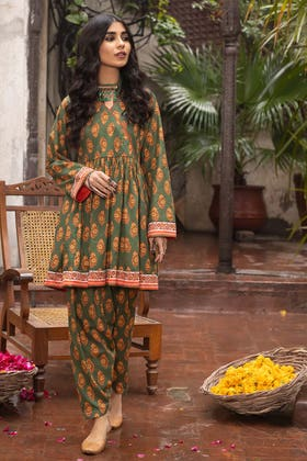 1PC Unstitched Printed Lawn Fabric SL-955 A