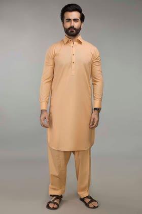 Regular Fit Poly Viscose Peach Stitched Shalwar Kameez SKP-645-01