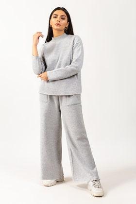 Soft Blend High Neck Sweatshirt and Trouser SLWK-103