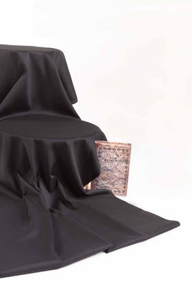 Black Unstitched Fabric  NAYAB GF#04