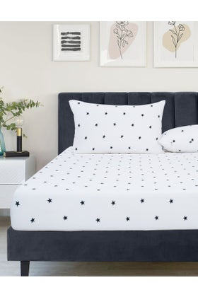 STARRY NIGHT Jersey Fitted Sheet Set