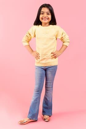 Light Yellow Sweater SWK-FW19-105 B