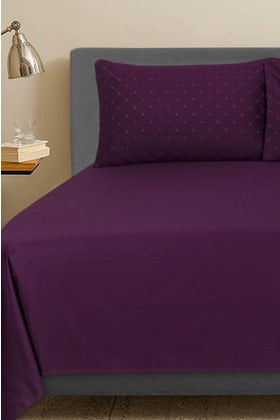 Mulberry T-400 Embroidered Bed Sheet Set