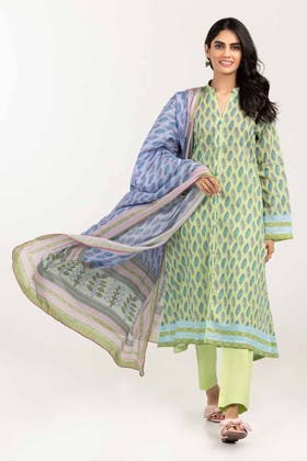 3PC Unstitched Printed Lawn Suit with Lawn Dupatta CLP-12036 B
