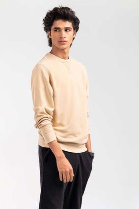 Tan Fashion Sweatshirt JKT-MSS-D27-01