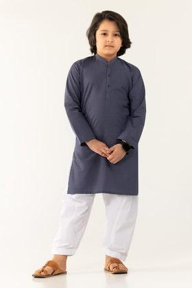Teal Basic Kids Kurta KKP-1760