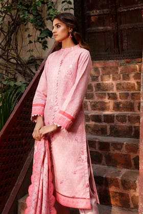 3 PC Lawn Unstitched Embroidered Suit CL-1239