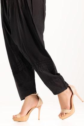 Black Dyed Cambric Shalwar TR-21-29