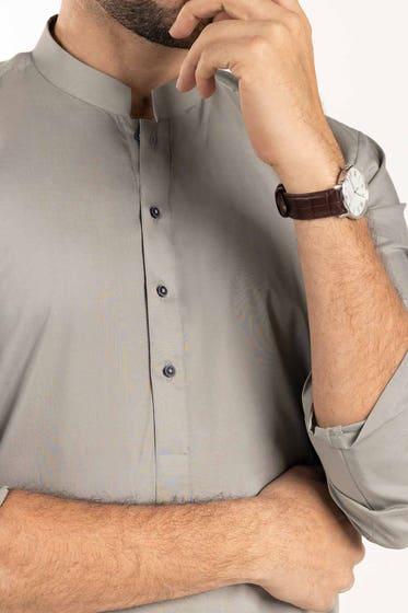Light Grey Unstitched Fabric With Gift Box Libas e Mashriq-US