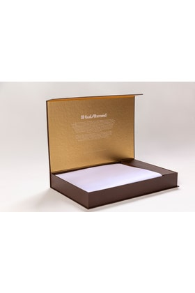 White Unstitched Fabric With Gift Box X-Series - Executive Collection Emerald