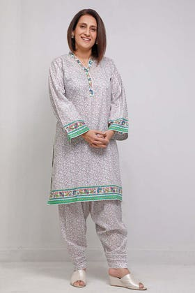 1PC Unstitched Printed Lawn Fabric SL-920 A