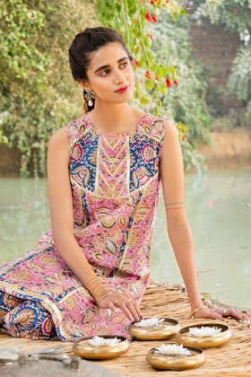 1PC Unstitched Printed Lawn Fabric SL-886 A