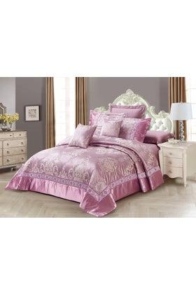 VIOLET ICE Jacquard Bed Spread Set