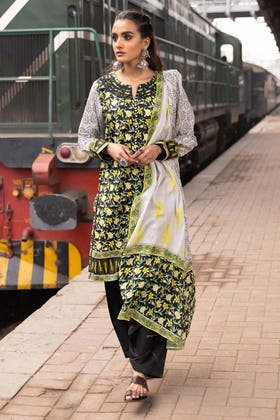 2PC Unstitched Printed Lawn Shirt With Lawn Dupatta TL-320 A