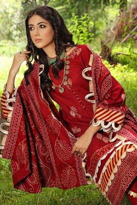 3PC Unstitched Pashmina Shawl Suit AP-12066